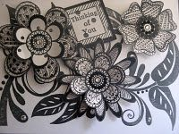 Love the 3-D aspect of this flower zentangle!!  So will keep this on the front burner!