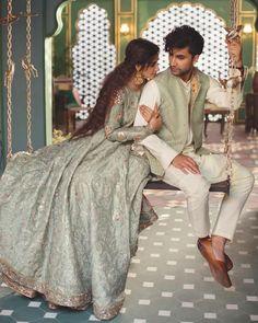 Pakistani Bridal Dresses Online, Desi Wedding Dresses, Pakistani Dress Design, Wedding Couple Poses Photography, Indian Wedding Photography, Wedding Poses, Photography Poses, Wedding Couples, Sajal Ali Wedding