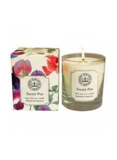 Pure Eco Soy Wax Candle Kew Garden Canova Sweet Pea Fragrance Home Kitchen New Soy Wax Candles, Candle Jars, Best Gift Baskets, Garden Candles, Kew Gardens, Botanical Gardens, Beautiful Gifts, Candlesticks, Valentine Day Gifts