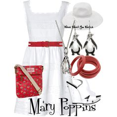 Inspired by Disney's Mary Poppins played by Julie Andrews in the 1964 film.