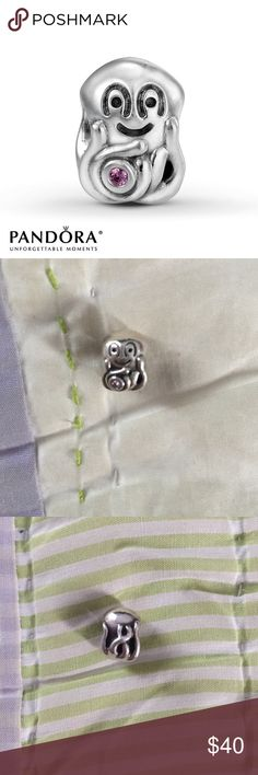 Pandora Octopus Pandora Charm Retired pandora octopus charm, authentic, in great condition, silver with pink stone Pandora Jewelry Bracelets