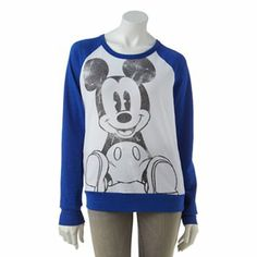 Disney Mickey Mouse Raglan Top - Juniors