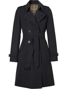 The Mid-length Chelsea Heritage Trench Coat in Midnight Trench Coat Outfit, Blue Trench Coat, Women's Trench Coats, Trench Coat Women, Puffer Coats, Winter Trench Coat, Black Winter Coat, Double Breasted Trench Coat, Fall Winter