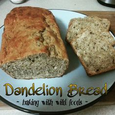 Baking with wild foods is an exciting new adventure for me, so when I saw the first dandelions popping up I couldn't resist trying my hand at dandelion bre