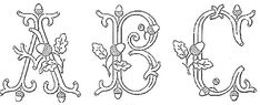 Broderie D'Antan: Embroidery Patterns (Entire Monogram Alphabet)
