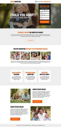 Adoption landing page design added to Buylandingpagedesign.com | BuyLPDesign Blog