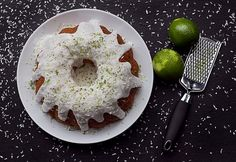 Lime, coconut, ginger and carrot cake
