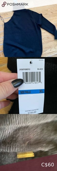 Michael Kors Black Sweater Super adorable! New with tags and retail as $195 Size XL Black in colour Michael Kors Sweaters Cowl & Turtlenecks