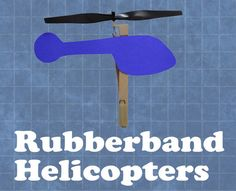 Turn popsicle sticks and construction paper into high-flying helicopters.
