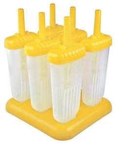 Make a cool summer treat even cooler and just a little bit groovier with these Tovolo Yellow Groovy Pop Molds. Your home made popsicles will delight the kids and their friends with their unique shape and built-in drip guards.