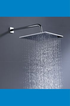 100% Metal 12 Inch Rain Shower Head Square 2.5 GPM Rainfall Spray