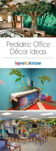 Décor is vital to the success of any pediatric office since it plays a key role in the comfort level and first impression of patients. A well-decorated pediatric waiting room should feel inviting and comfortable for both children and parents. | Pediatric Office Decor Ideas from #LoveToKnow