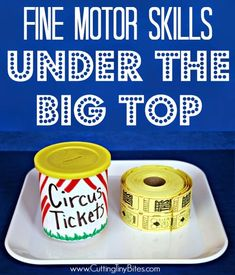 Motor Skills Under the Big Top Develop fine motor skills using this fun circus theme activity. Your toddlers and preschoolers will love it!Develop fine motor skills using this fun circus theme activity. Your toddlers and preschoolers will love it! Fine Motor Activities For Kids, Motor Skills Activities, Fine Motor Skills, Toddler Activities, Dementia Activities, Music Activities, Physical Activities, Preschool At Home, Preschool Themes