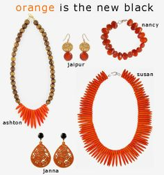 orange is the new black when it comes to summer statement jewelry