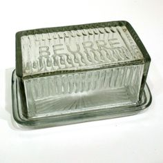 French Style Glass Butter Dishes