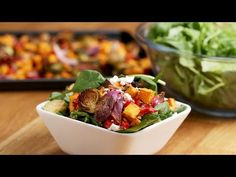 Roasted Veggie Salad With Maple Balsamic Vinaigrette