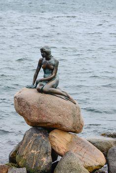 The Little Mermaid statue in Denmark.I have to see this Copenhagen Hotel, Copenhagen Travel, Copenhagen Denmark, Little Mermaid Statue, The Little Mermaid, Places To Travel, Places To Go, Baltic Cruise, Real Mermaids