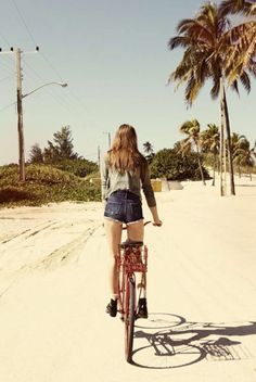 summer time, summer of love, pink summer, bike rides, go Pink Summer, Summer Of Love, Summer Beach, Summer Time, Beach Bum, Summer Sun, Cycling Girls, Cycle Chic, Bicycle Girl
