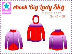 Ebook Sweatjacke Big Lady Sky Gr.46-58