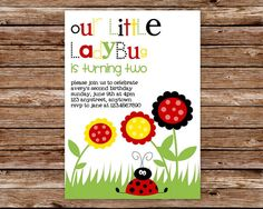 Custom Printable Ladybug Birthday Party by thepaperblossomshop