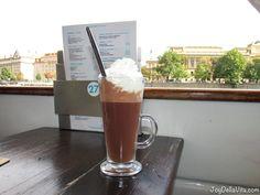 Hot Chocolate on Prague Boats Boat Tour on Vltava river in Prague JoyDellaVita Travelblog