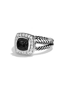 David Yurman - Petite Albion Ring with Black Onyx and Diamonds