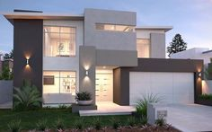 full size of modern house plans ideas houses design bungalow new homes decorating gorgeous i villa Design Exterior, Modern Exterior, Home Interior Design, Exterior Colors, Grey Exterior, Storey Homes, Facade House, House Facades, Modern House Design