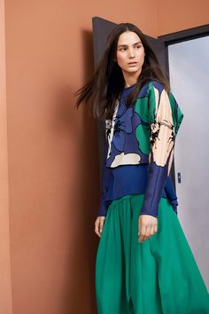 Take inspiration from the Chloé Resort 15 collection and forget the old saying, blue and green are analogous colours so they are fanatstic together. www.stylestaples.com.au