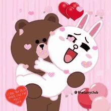 Bear Wallpaper, Disney Wallpaper, Line Brown Bear, Excited Gif, Line Cony, Bear Gif, Cony Brown, Emoji Symbols, Cute Couple Art