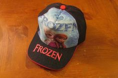 Disney Frozen Anna & Elsa pink/jean girls youth baseball cap/hat #Disney #BaseballCap