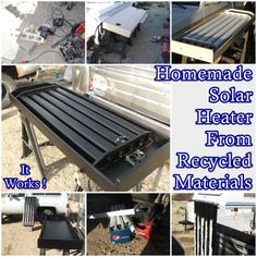 The Homestead Survival | Homemade Solar Heater From Recycled Materials Off Grid Project | http://thehomesteadsurvival.com Homesteading & Off Grid - Heating