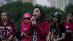 Hong Kong Domestic Workers March Against High-Rise Windows Cleaning