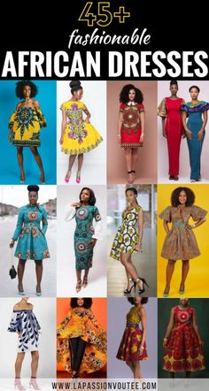 45 Fashionable African Dresses African dresseas come in all styles, patterns and designs. Beautifully crafted ankara styles are all you need this summer. Ankara Styles For Women, African Dresses For Women, African Print Dresses, African Attire, African Wear, African Fashion Dresses, African Women, African Clothes, African Prints