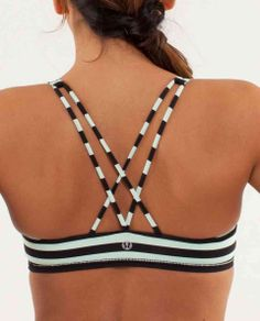 lulu lemon sports bra. Great for hot yoga!!! Love colors.