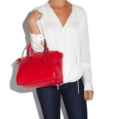 Love the red purse!