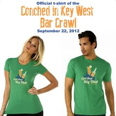 Here are the 2012 Conched in Key West Bar Crawl shirts! #KeyWest #Travel #Charity