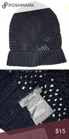 9d2874dbddf aerie Navy Loose Knit Beanie Color  navy Details  loose knit