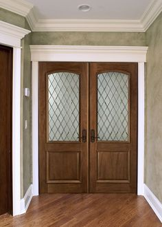 Classic Mahogany Solid Wood Front Entry Door - Double - GDI-552DG DD