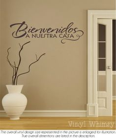 Spanish Wall Art spanish wall quotes | good site for phrases to use | inspiración