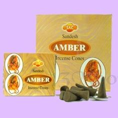 Amber Incense Cones 10 Hand rolled Amber Incense Cones by the Sandesh Agarbathi Conpany in India. Their incense consists mainly of natural forest products and natural oils (approximately The result is that this incense is environmently friendly, la Incense Cones, Incense Sticks, Natural Oils, Amber, Ivy
