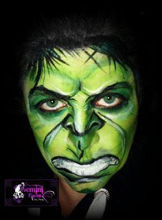 Hulk Smash! face painting