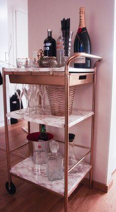 #diy #diyikea #ikea #drinkvagn #drinktable #serveringsvagn #marble #marmor Finns…