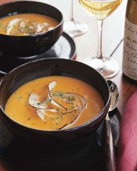 soup: Butternut Squash Soup with Coconut and Ginger