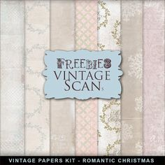 Freebies Kit of Vintage Style XMAS Papers:Far Far Hill - Free database of digital illustrations and papers