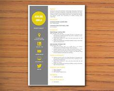 Modern Microsoft Word Resume  Template  Khalida Jamila by Inkpower, $10.00