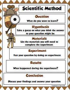 Free Scientific Method and recording sheet for your next science experiment