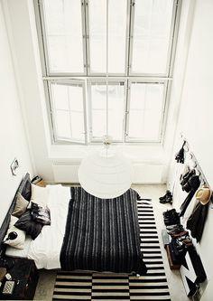 High ceilings.