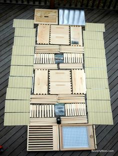 Unassembled Bee Hive kit for Beginner Beekeepers - BEVERLY BEES