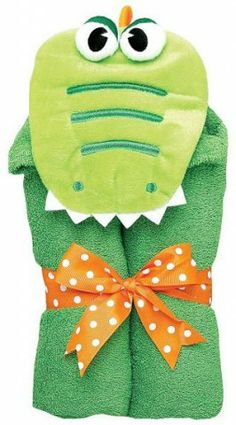 A personalized towel for your little crocodile