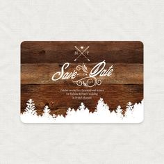 rustic mountain save the date by i do it yourself